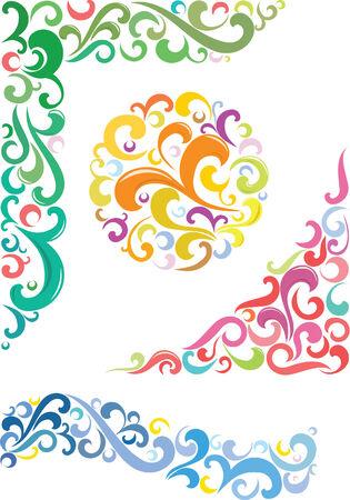 colorful design elements, vector Illustration