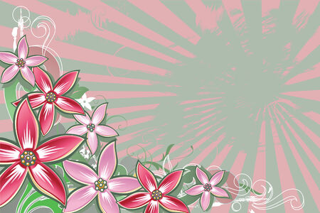 Floral background with space for text.