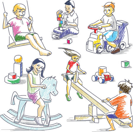 Playing children #2 Illustration