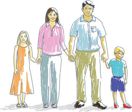 Portrait of Two Parents and Two Children