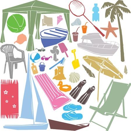 Lato Design Elements Ilustracje wektorowe