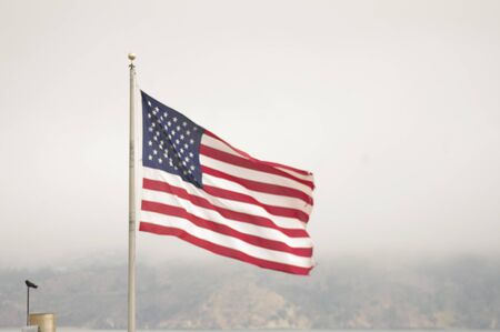 independance: American Flag Stock Photo