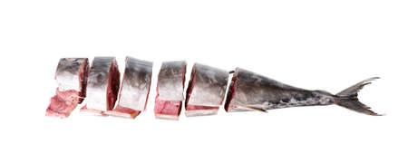 tuna: Stake from a tuna isolated on white background
