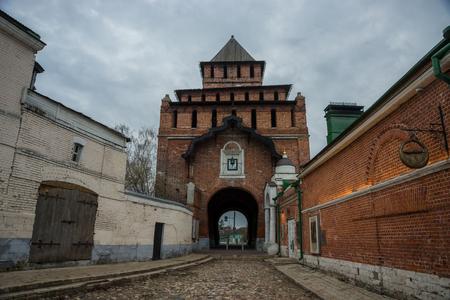 muttrah: Pyatnitsky City Gate is the main, front, gate of Kolomna Kremlin, Russia Stock Photo