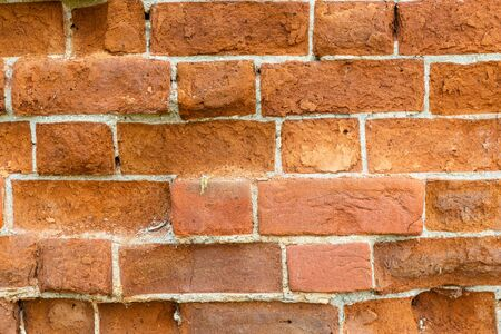 red brick old wall, can be used as wallpaper and background