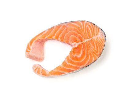 Fresh salmon fish isolated on white background. Foto de archivo
