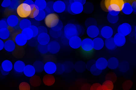 defocus abstract bokeh background on christmas festival photo