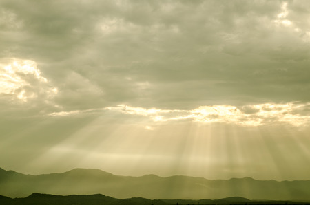 light god: light of god in to mountain with best sky and cloud