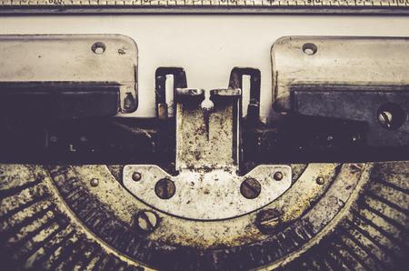close up of typewriter vintage retro styled Standard-Bild