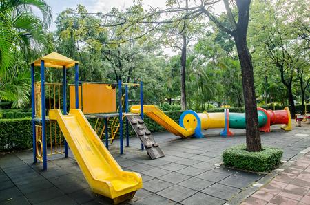 playground equipment: playground in park Stock Photo