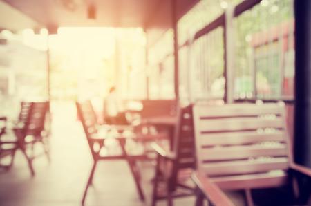blurred outdoor coffee shop, vintage tone color