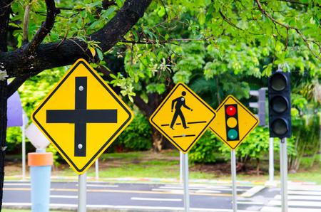 traffic sign in simulation traffic park