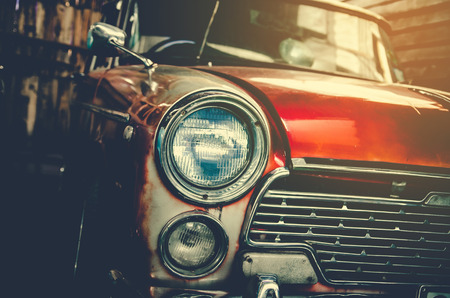 Headlight lamp vintage car Stockfoto