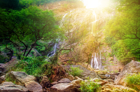 klong: Klong Lan National Park , water fall in Kampaeng Phet province. thailand Stock Photo