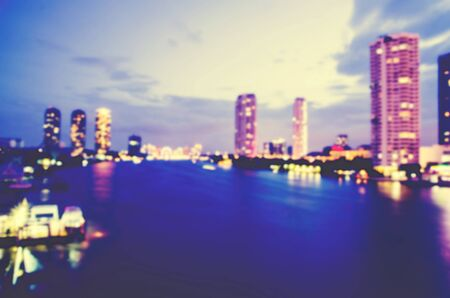 buliding: blurred cityscape with business buliding and liveing zone