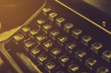 close up of typewriter vintage retro styled
