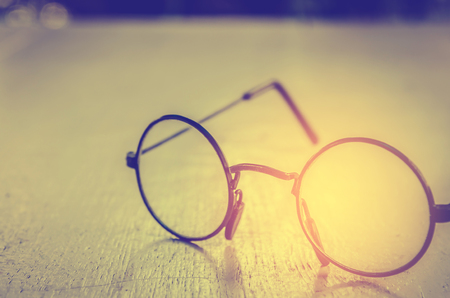 eye glasses: Artwork in retro style, Spectacles and book , vintage styled