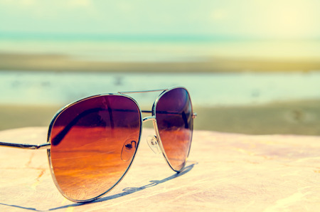 sunglasses with a retro vintage  filter Stock Photo