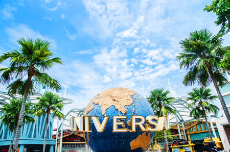 Universal Studio Singapore, Singapore 14 October - 2017: Universal Studio Singapore is a theme park located within Resorts World Sentosa on Sentosa Island, Singapore.