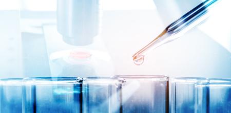 Science laboratory test tubes , laboratory equipment Stok Fotoğraf