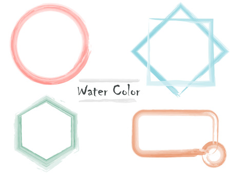 water color shape design for text