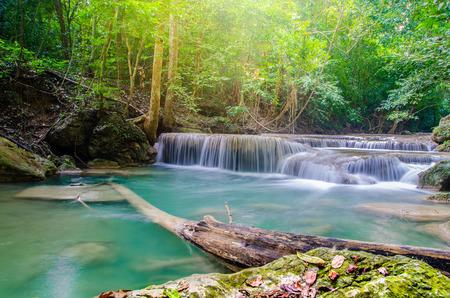 waterfall in deep forest , thailand  era-wan national park  Stok Fotoğraf