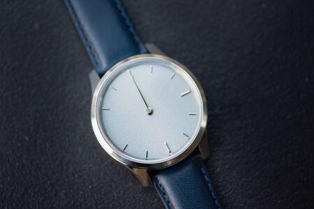 macro shot of watch clock
