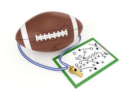 A football and a whistle - 3d render illustration Reklamní fotografie - 49974345