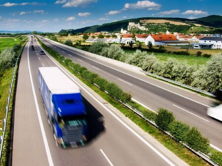 expeditions: Truck on highway in Slovakia