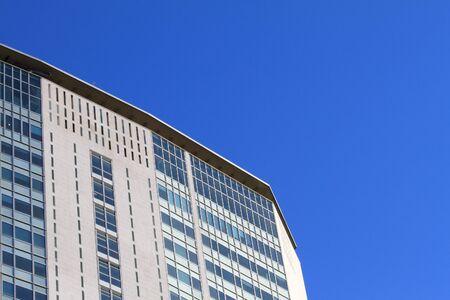 Skyscraper facade in a modern urban financial district