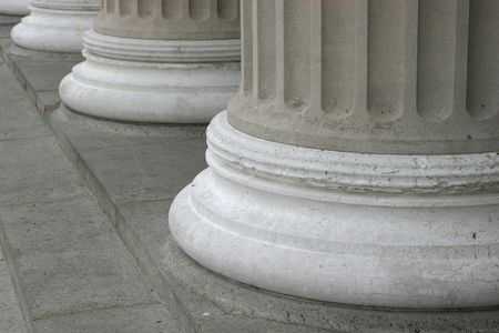 strong foundation: Pillars Stock Photo