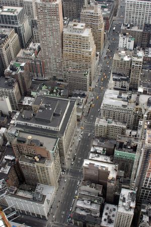 Aerial View of Fifth Avenue New York