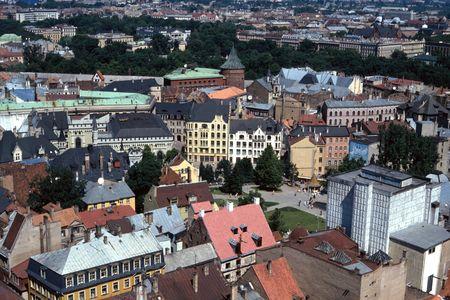 Downtown Riga Capital of Latvia