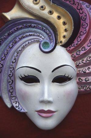 Venetian Carnevale Mask Imagens