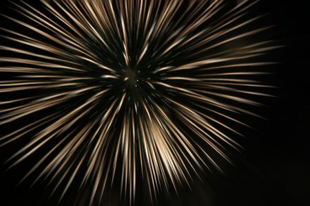Abstract rendering of fireworks Stock Photo