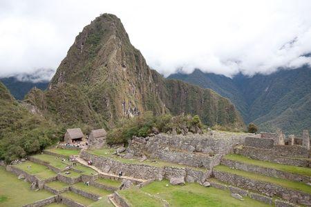 Ruins at the base of Wayna Picchu photo