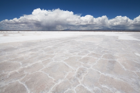 Salt flats near Uyuni, Bolivia photo