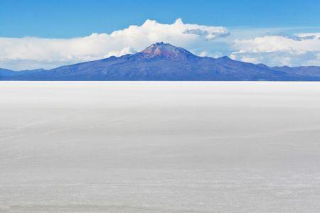 uyuni: View of high altitude salt flats in Bolivian Andes near Uyuni