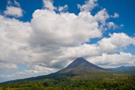 stratovolcano: Landscape view of Arenal Volcano and surrounding lands, Costa Rica