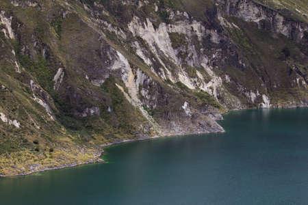 Shoreline of Andean Lake Quilotoa, Ecuador Фото со стока - 12862142