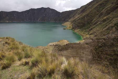 Quilotoa and crater vegetation, Ecuador