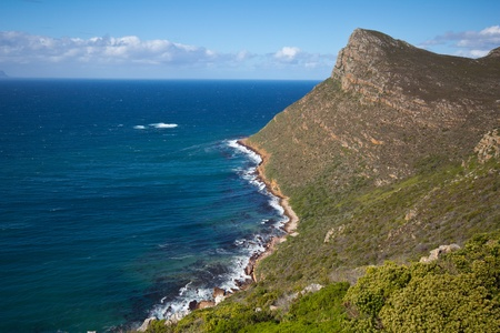 Scenery along drive to Cape Point, Table Mountain National Park, South Africa photo