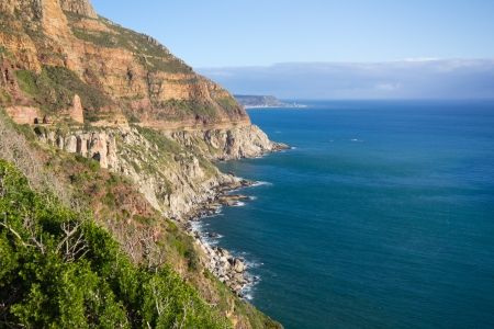 cape of good hope: Scenery along drive to Cape Point, Table Mountain National Park, South Africa Stock Photo