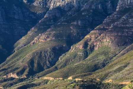 Coastal mountains along Chapmans Peak Drive near Hout Bay, Cape Town, South Africa photo