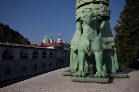 Along the Ljubljanica river, Ljubljana, Slovenia