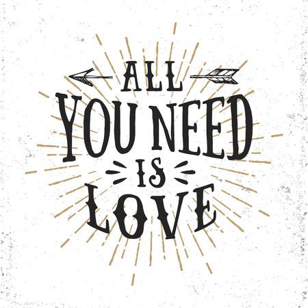 carta de amor: Dibujado a mano las letras romántica. Todo lo que necesitas es amor.