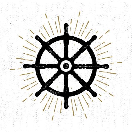 helm: textured icon with helm illustration. Illustration