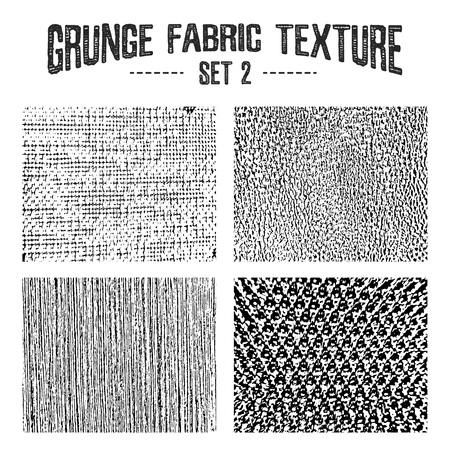 fabric textures: Grunge fabric textures set 2. Vector backgrounds.
