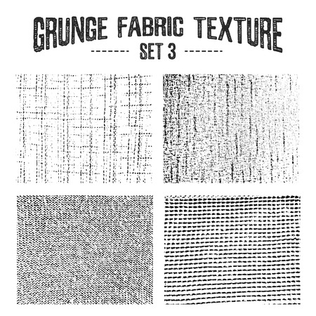 fabric textures: Grunge fabric textures set 3. Vector backgrounds.