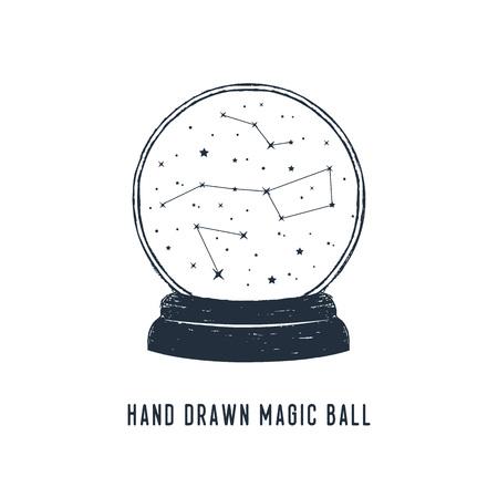 Hand drawn snow ball textured vector illustration. Illusztráció